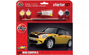 AIRFIX 1/32 MINI COOPER 3 STARTER SET (WITH PAINT & GLUE)