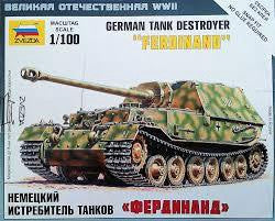ZVEZDA 1/100 GERMAN TANK DESTROYER FERDINAND