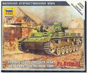 ZVEZDA 1/100 GERMAN FLAME THROWER TANK PZ.KPFW.III