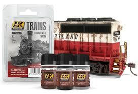 AK 7000 TRAIN WEATHERING SET