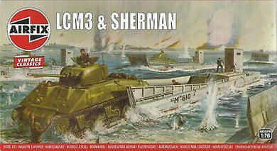 AIRFIX 1/76 LCM3 AND SHERMAN