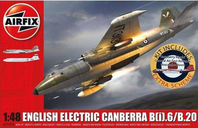 AIRFIX 1/48 ENGLISH ELECTRIC CANBERRA B(i).6/B.20 (+RASPBERRY RIPPLE)
