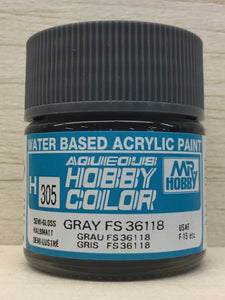 GUNZE MR HOBBY COLOR H305 SEMI GLOSS GRAY FS36118