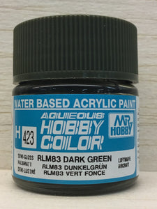 GUNZE MR HOBBY COLOR H423 SEMI GLOSS RLM 83 DARK GREEN
