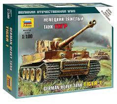 ZVEZDA 1/100 GERMAN HEAVY TANK TIGER I