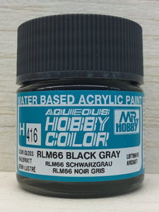 GUNZE HOBBY COLOR H416 SEMI GLOSS RLM 66 BLACK GRAY