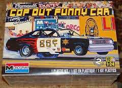 REVELL 1/24 PLYMOUTH DUSTER COP OUT FUNNY CAR