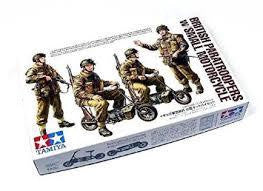 TAMIYA 1/35 BRITISH PARATROOPERS W/SMALL MOTORCYCLE