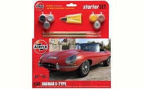 AIRFIX 1/32 E TYPE JAGUAR STARTER SET