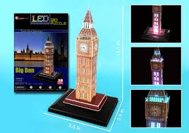 3D PUZZLE BIG BEN (LED LIGHTS )