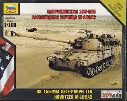 ZVEZDA 1/100 US 155MM SELF PROPELLED HOWITZER M-109A2