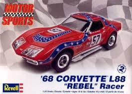 REVELL 1/25 '68 CORVETTE L88 REBEL RACER