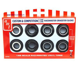 AMT 1/25 DRAG SLICK TYRES 8 PACK