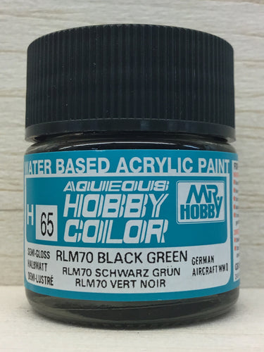 GUNZE HOBBY COLOR H65 SEMI GLOSS RLM 70 BLACK GREEN