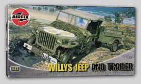 AIRFIX 1/72 WILLIYS JEEP & TRLR