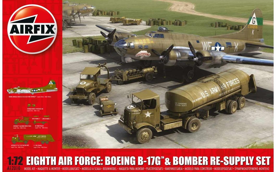 AIRFIX 1/72 8TH AIR FORCE B-17G & BOMBER RE-SUPPLY SET