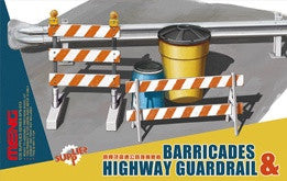MENG 1/35 BARRICADES & HIGHWAY GUARDRAIL