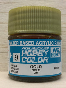 GUNZE MR HOBBY COLOR H9 METALLIC GOLD