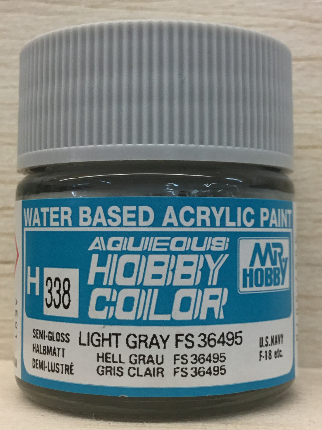 GUNZE MR HOBBY COLOR H338 SEMI GLOSS LIGHT GRAY FS36495
