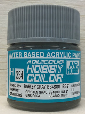 GUNZE MR HOBBY COLOR H334 SEMI GLOSS BARLEY GRAY BS4800/18B21