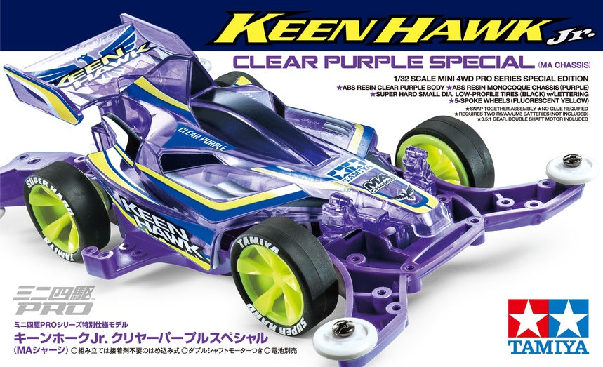 TAMIYA MINI 4WD KEEN HAWK JR CLEAR PURPLE