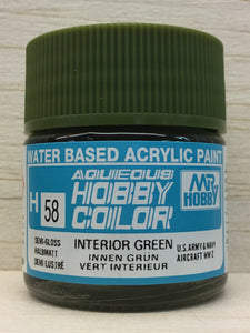 GUNZE HOBBY COLOR H58 INTERIOR GREEN