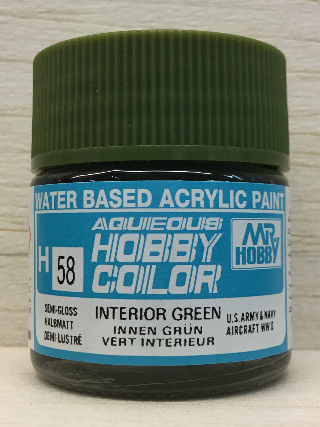GUNZE MR HOBBY COLOR H58 INTERIOR GREEN