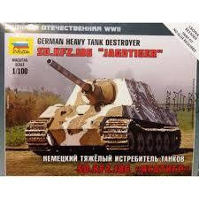 ZVEZDA 1/100 GERMAN HEAVY TANK DESTROYER JAGDTIGER