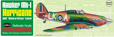 GUILLOWS BALSA HAWKER HURRICANE MK1