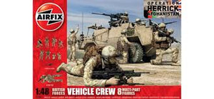 AIRFIX 1/48 BRITISH FORCES VEHICLE CREW 8 FIGURES