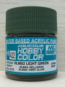 GUNZE MR HOBBY COLOR H422 SEMI GLOSS RLM 82 LIGHT GREEN