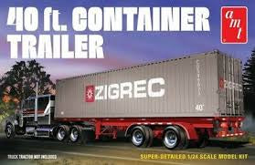 AMT 1/24 40FT CONTAINER TRAILER