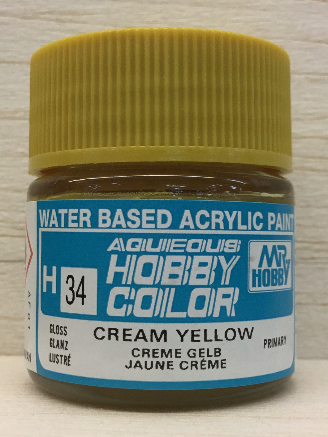 GUNZE MR HOBBY COLOR H34 GLOSS CREAM YELLOW