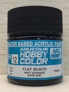 GUNZE MR HOBBY COLOR H12 FLAT BLACK