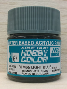 GUNZE MR HOBBY COLOR H67 SEMI GLOSS RLM 65 LIGHT BLUE