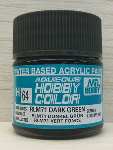 GUNZE MR HOBBY COLOR H64 SEMI GLOSS RLM 71 DARK GREEN