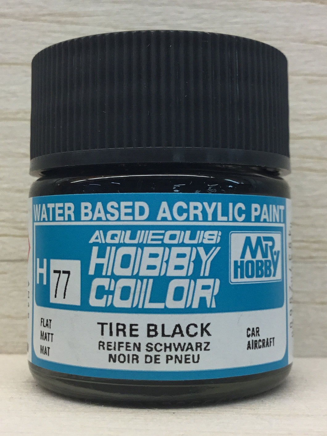 GUNZE HOBBY COLOR H77 FLAT TYRE BLACK