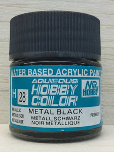 GUNZE MR HOBBY COLOR H28 METALLIC METAL BLACK