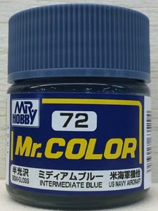 GUNZE MR COLOR C72 SEMI GLOSS INTERMEDIATE BLUE