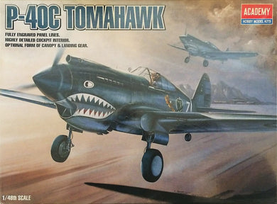 ACADEMY 1/48 P-40C FLYING TIGERS