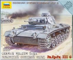 ZVEZDA 1/100 GERMAN MEDIUM TANK PZ.KPFW 3G