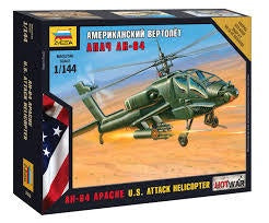 ZVEZDA 1/144 AH-64 APACHE ATTACK HELICOPTER