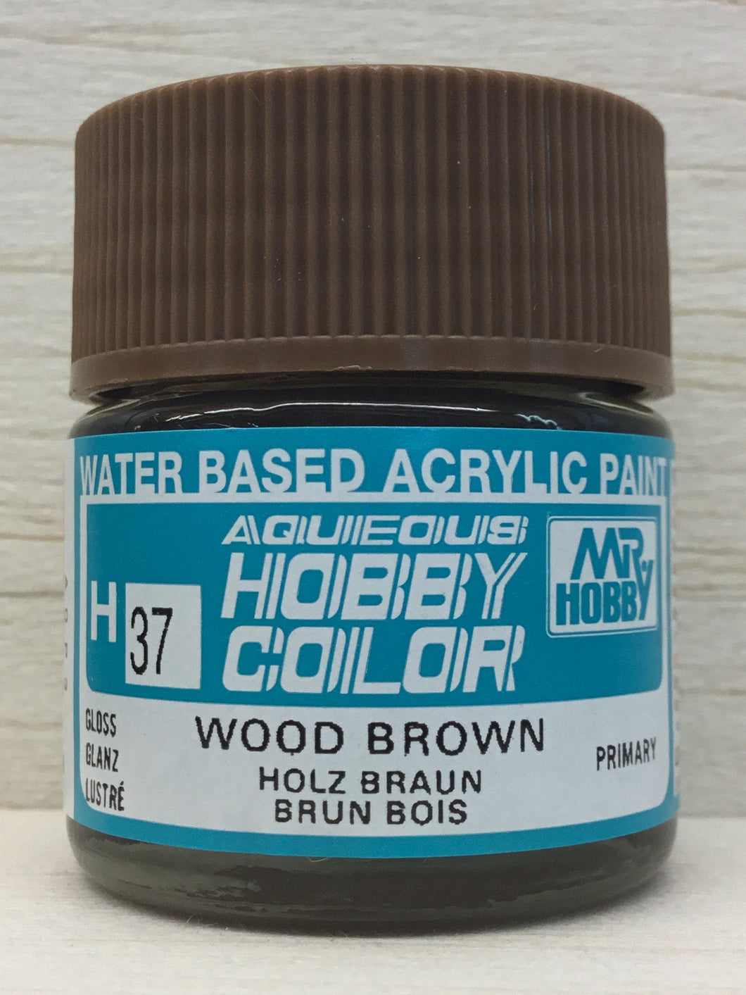 GUNZE HOBBY COLOR H37 GLOSS WOOD BROWN