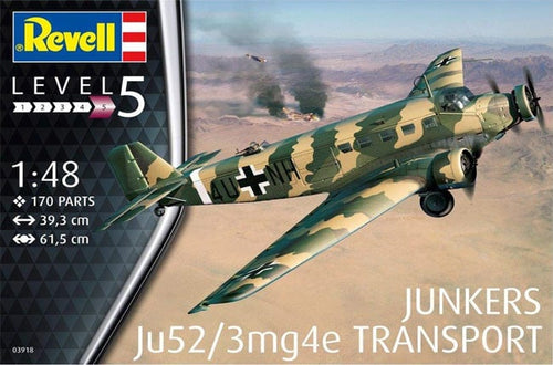 REVELL 1/48 JUNKERS JU52/3MG4E TRANSPORT