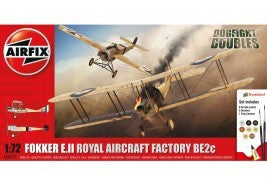 AIRFIX DOGFIGHT DOUBLE FOKKER E2 RAF BE2 GIFT SET