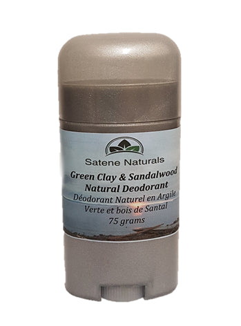 Natural Deodorant - Green Clay & Sandalwood