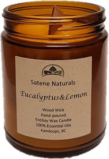 Eucalyptus Lemon Wood Wick Candle