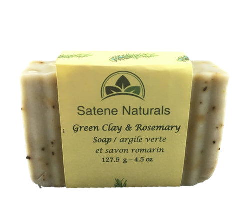Green Clay and Rosemary Soap