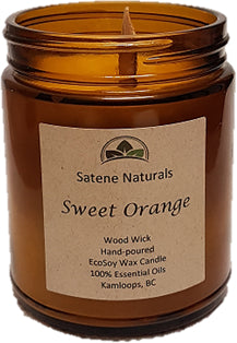 Sweet Orange Wood Wick Candle