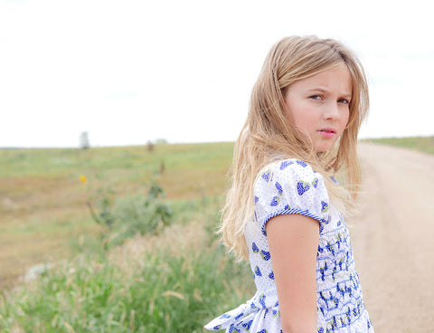 Press release from Yuhme blog post featuring The Open Road's ethically made Sophia dress for girls